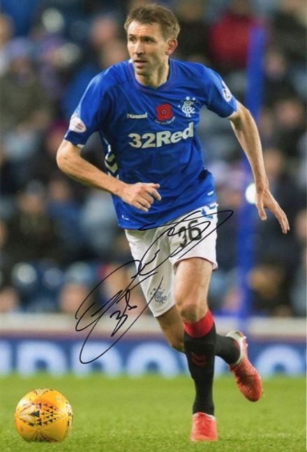 Gareth McAuley, Rangers & Northern Ireland, signed 12x8 inch photo.